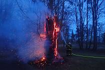 V Šilheřovickém parku hořely dva stromy.