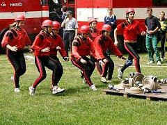 Součástí hasičského sboru v Kobeřicích je také družstvo dorostenek.