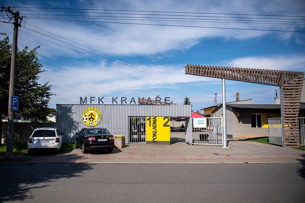 Fotbalový klub MFK Kravaře. 25 července 2020 v Kravařích.