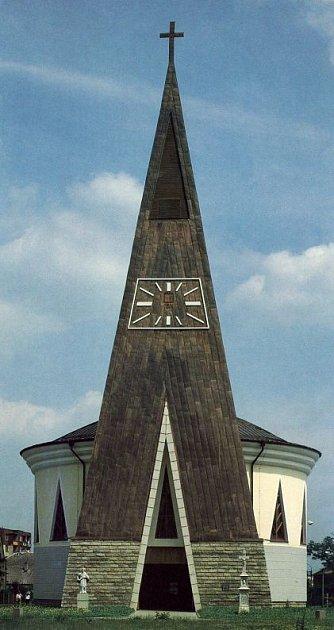 Původní barokní kostel vKylešovicích byl zničen za druhé světové války.