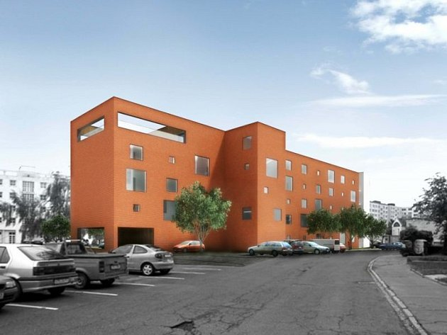 Takto by měl podle projektu vypadat penzion pro seniory na ulici Hálkově vOpavě, který se má začít stavět letos.