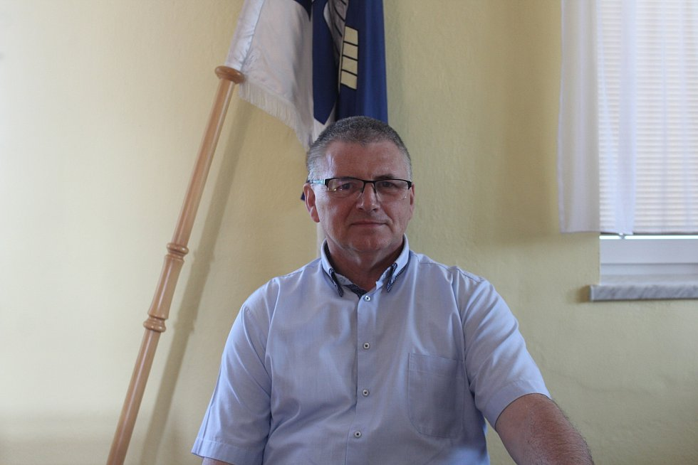 Starosta Dolních Životic Jaroslav Vaněk.
