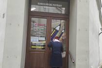 Papírnictví v Opavě, 19. ledna 2021.