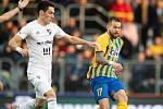 Opava - Zápas 15. kola fotbalové FORTUNA:LIGY mezi SFC Opava a FC Baník Ostrava 11. listopadu 2018. Petr Zapalač (SFC Opava).