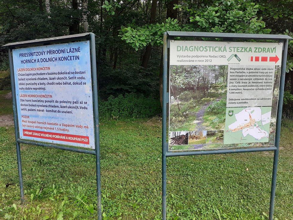 Diagnostická stezka zdraví a Priessnitzovy přírodní lázně.