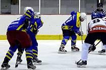 Krnovští hokejisté si v Rožnově s chutí zastříleli. Pomohl jim výborný úvod, kdy se ujali vedení dokonce 5:0.