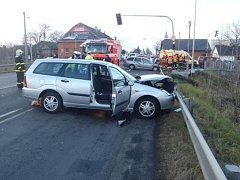 Vážná nehoda se čtyřmi zraněnými u Nových Sedlic na Opavsku