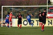 Vlašim - Zápas 23. kola Fortuna národní ligy mezi FC Vlašim a SFC Opava 22. dubna 2018 ve Vlašimi. Vlašim gól.