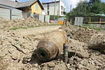 Letecká puma v Pusté Polomi byla nalezena při výkopových pracích.