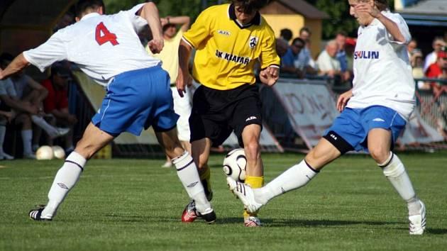 Fotbalisté Kravař se s domácími diváky rozloučili vítězstvím 3:1 nad Petřkovicemi.