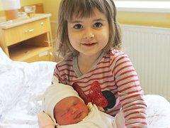Klára Fiedlerová se narodila 22. listopadu, vážila 3,57 kilogramů a měřila 47 centimetrů. Rodiče Pavla a Jakub z Bolatic přejí dceři hlavně zdravíčko a hodnou sestřičku. Z Klárky má velkou radost také sestra Valinka.