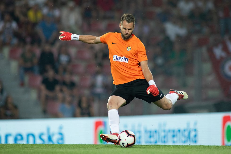 Zápas 1. kola FORTUNA:LIGY mezi AC Sparta Praha a SFC Opava 21. července 2018 v Generali areně v Praze. Vojtěch Šrom - o.
