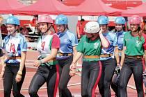 Dorostenky z Těškovic vybojovaly na letošním mistrovství ČR v Praze celkové osmé místo.