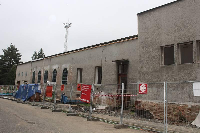 Rekonstrukce nádraží Opava západ. Opava, 20. září 2021.