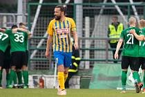 Pavel Zavadil (SFC Opava) na snímku ze zápasu fotbalové FORTUNA:LIGY mezi 1. FK Příbram a SFC Opava 5. dubna 2019.