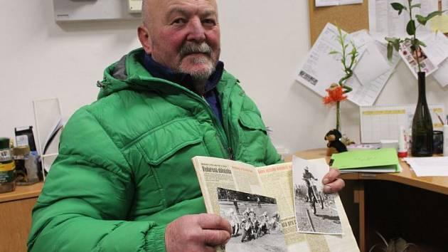 Josef Tichý i po letech na závody na Otické sopce rád vzpomíná. Pečlivě si vedl album s novinovými ústřižky upomínající na jeho kariéru.