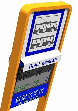 VOpavě bude sedm inteligentních zastávek MHD. Ty budou cestující informovat kromě časů odjezdů a příjezdů vozů, také oaktuálních zpožděních a omezeních na trase.