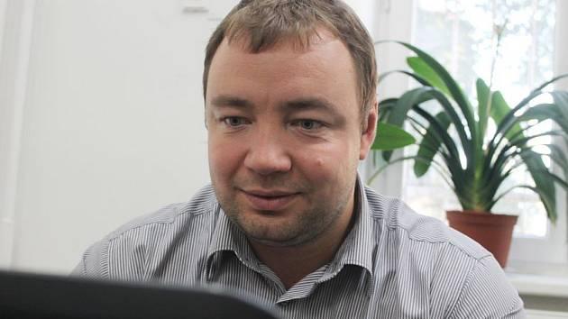 Předseda hnutí ANO Opava Martin Víteček v redakci Opavského a Hlučínského Deníku.