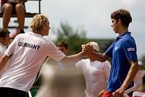 Čeští tenisté sice postoupili do finále Galeova poháru, ale poslední zápas opavské kvalifikace prohráli. Německu podlehli 0:3 na zápasy.