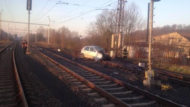 Nehoda na železnici v Děhylově.