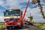 Nehoda kamionu v Raduni.