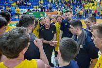 Snímek z dubnového zápasu čtvrtfinále play-off BK Opava – Olomoucko. Ilustrační foto.