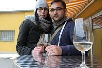 Opavskou vinnou stezku si užil Zdeněk Ferenc s přítelkyní Veronikou. Oba cestu po vinotékách v Opavě absolvovali také v loňském roce.
