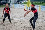 Český pohár 1* žen v plážovém volejbale, 11. července 2020 v Opavě. Miroslava Dunárová a Daniela Resová.