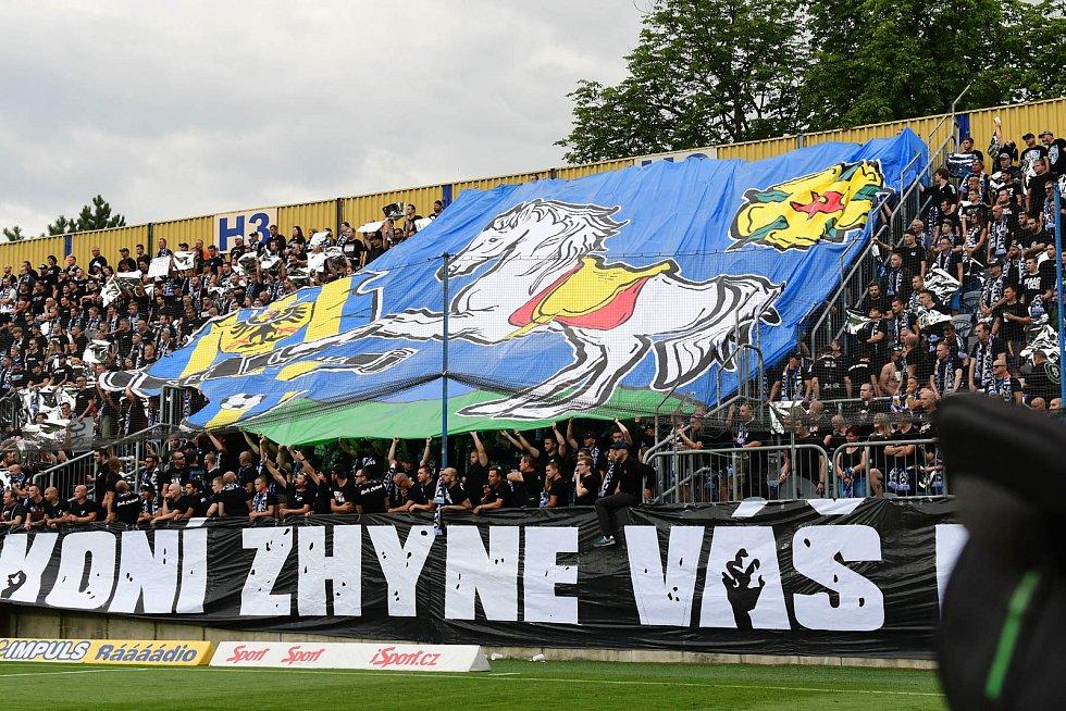 Utkání 4. kola první fotbalové ligy: SFC Opava - Baník Ostrava, 2. srpna 2019 v Opavě.