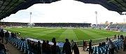 Stadion v Městských sadech před derby.
