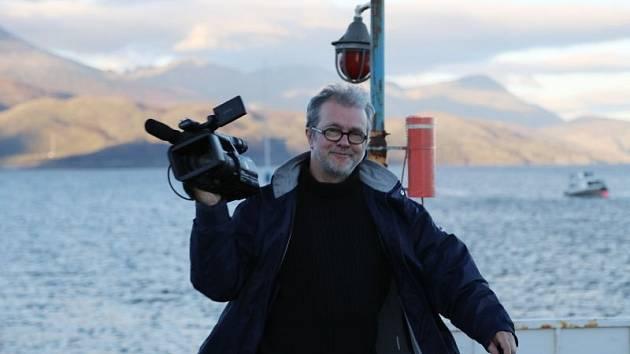 Petr Jančárek, autor dokumentu o zániku křižníku Garibaldi. Na fotografii je během plavby do Ohňové země.