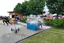 Jedna z soutěží v požárním sportu se uskutečnila v Chlebičově. Foto: Robert Kašný