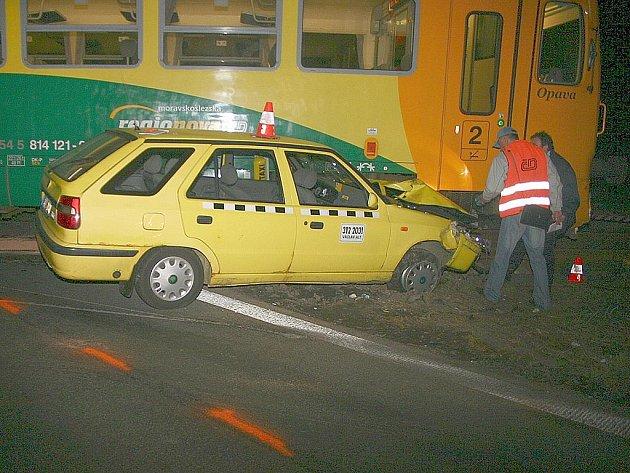 Snímek z místa nehody.