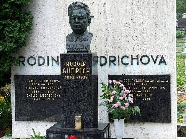 Busta z hrobky Rudolfa Gudricha se před lety také stala obětí zlodějů. Policisté ji naštěstí vypátrali. Nyní je na místě replika.