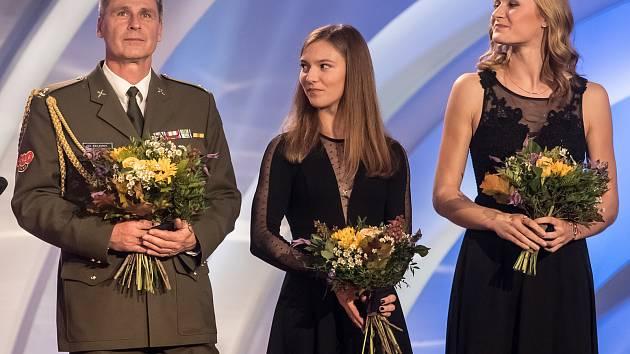 Barbora Malíková na vyhlášení ankety Atlet roku.