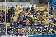 Praha - Zápas 10. kola Fortuna národní ligy mezi FK Viktoria Žižkov a SFC Opava 28. září 2017. Fanoušci SFC Opava.