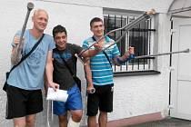 Trio zraněných, zleva: Michal Juchelka, Ruchard Husovský, Tomáš Moravec.