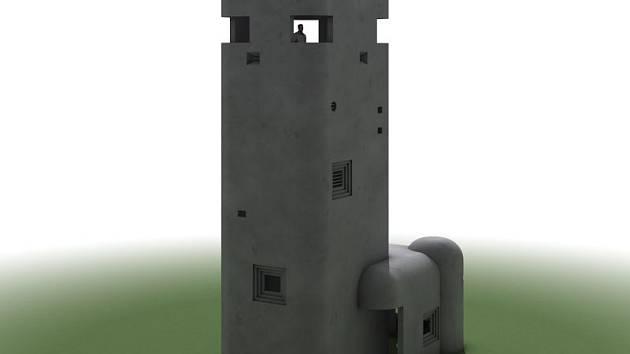 Předpokládaný vzhled rozhledny Šibenice, která má vzniknout poblíž Stěbořic.