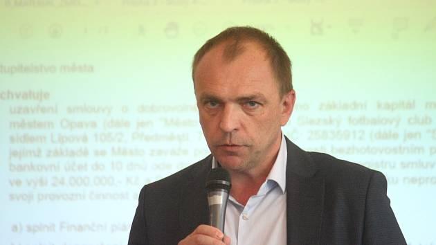 Předseda představenstva Slezského FC Opava Petr Glončák.