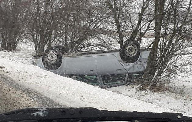Nehoda ve směru zHlučína na Darkovičky.
