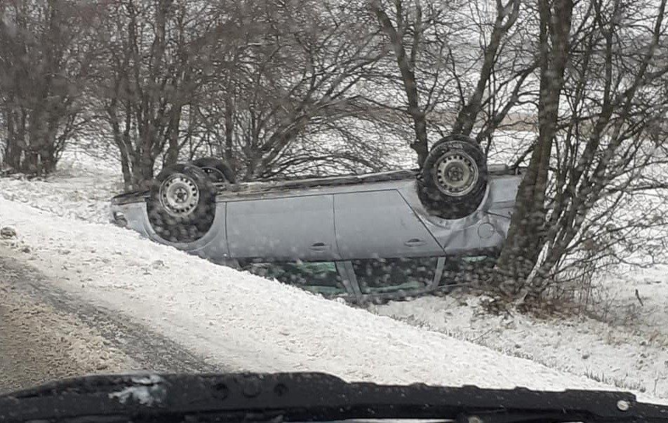 Nehoda ve směru z Hlučína na Darkovičky.