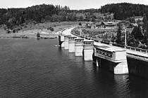 Pohled na jižní část přehrady vroce 1968.