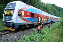 Pokud tento vlak mířící v sobotu večer z Opavy do Českého Těšína skutečně srazil člověka, tak záchranáři jej dosud nenalezli.