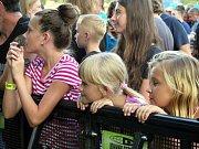 V sobotu pokračovaly v areálu Městské sportovní haly dvoudenní Havířovské slavnosti. Na snímcích Sebastian.