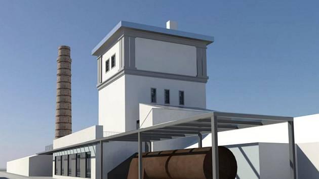 Vizualizace. Podobu vodárenské věže po opravě zpracovalo architektonické studio Causa.