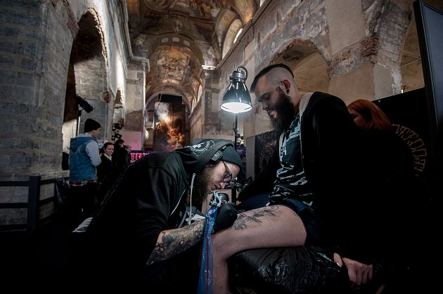 13. ročník akce Tattoo Session Silesia v kostele sv. Václava v Opavě.
