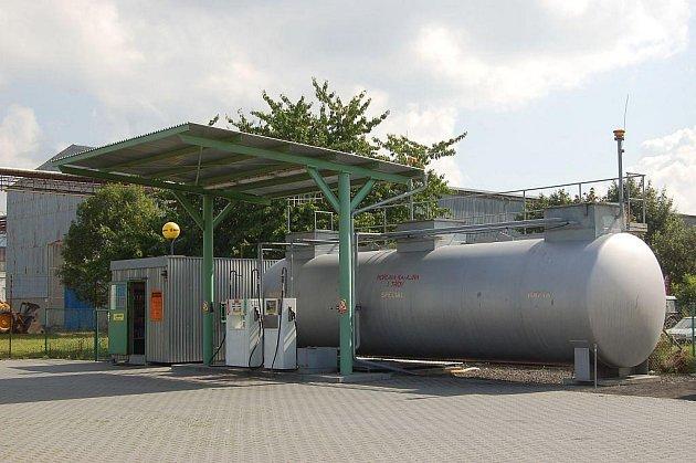 Přepadená benzinka v Dolním Benešově.