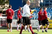 Úterní trénink reprezentace U20 v Opavě.