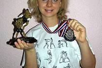 Pavla Stankeová přivezla stříbrnou medaili.
