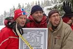 Tři nejlepší muži: Šrajer, Pavelek, Böhm.